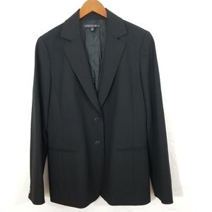 Lafayette 148 NY 2 button wool blend black blazer